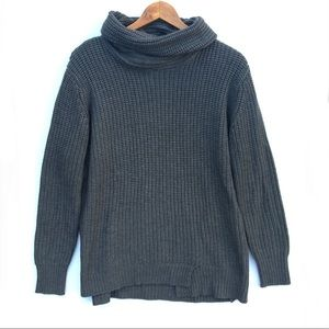 Zara Gray Cowl Neck Knit Sweater